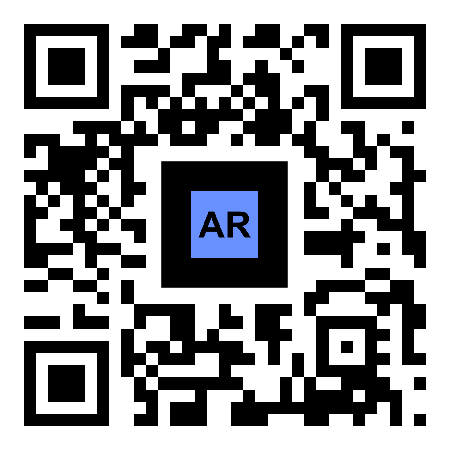 AR QR code shoes advertising